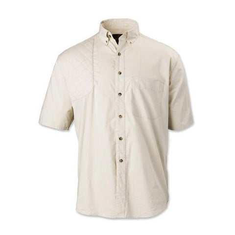Badger Creek Short Sleeve Woven Shooting Shirt - Sand, Small