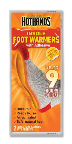 16 Packs Hothands Adhesive Insole Foot Bed Warmers Work Therapeutic Feet Pain/Cold Relief