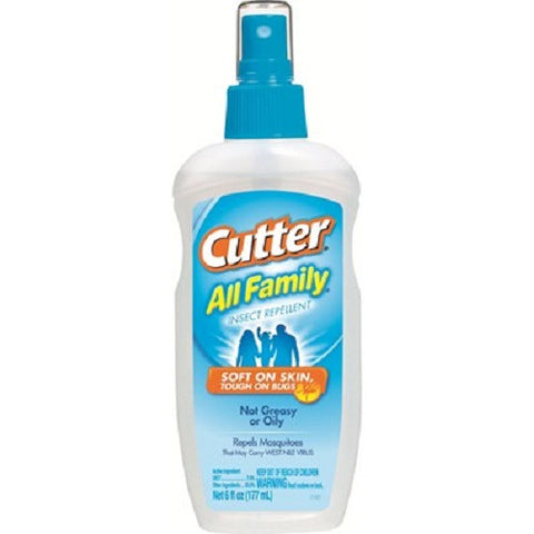 Cutter All Family Mosquito Tick Chigger Bug 7% DEET Repellent 6 oz Spray 51070