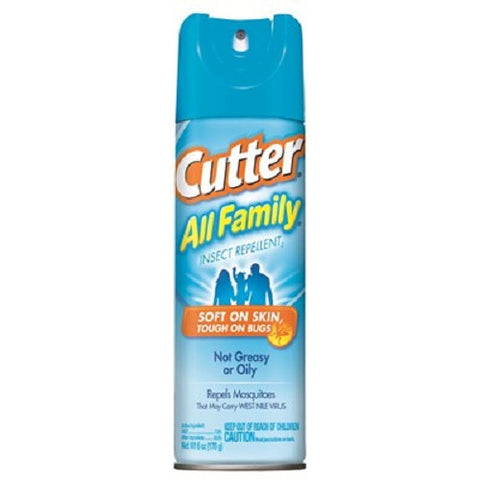 Cutter All Family Mosquito Tick Chigger Bug 7% DEET Repellent 6 oz Spray 54055