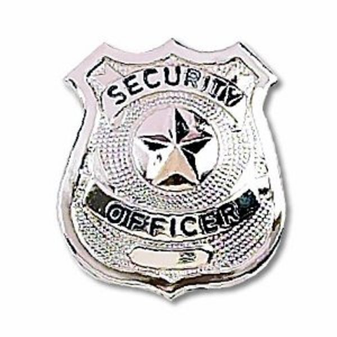 Badge-Security Officer Silver Star
