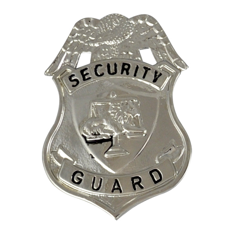 Badge-Security Guard-Silver Eagle