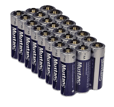Mustang Brand AA Batteries-24 Pack