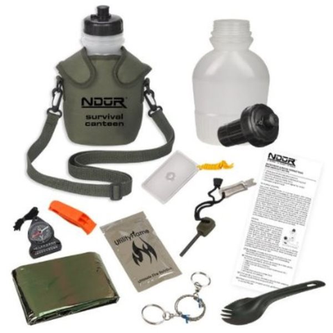 NDUR 46 oz. Survival Canteen Kit, Olive