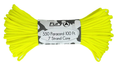 Fury Paracord - NEON YELLOW