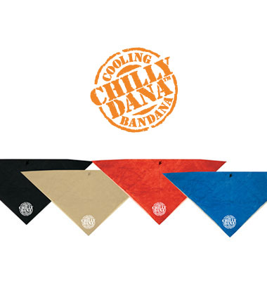 Chilly Dana Cooling Bandana - Sunset Red