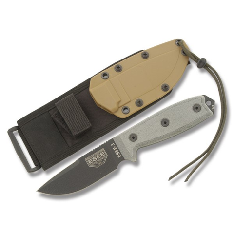 ESEE-3 Plain Edge w Black Blade