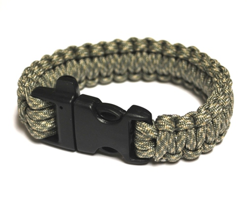 Survival Bracelet w-Whistle - Digital Ca