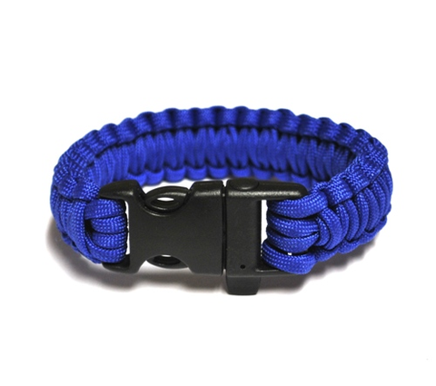 Survival Bracelet w-Whistle - Blue