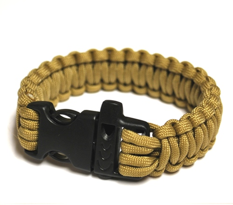 Survival Bracelet w-Whistle - Golden