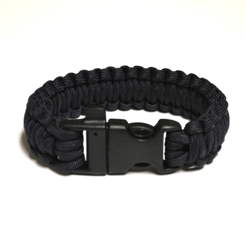 Survival Bracelet w-Whistle - Dark Blue