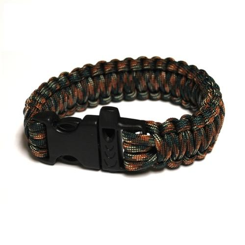 Survival Bracelet w-Whistle - Army Camo
