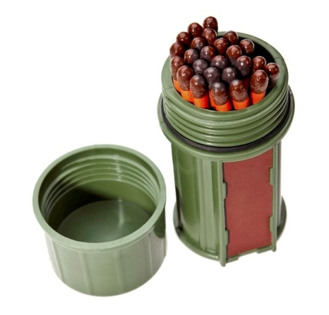 Match Container w-25 Matches - Green