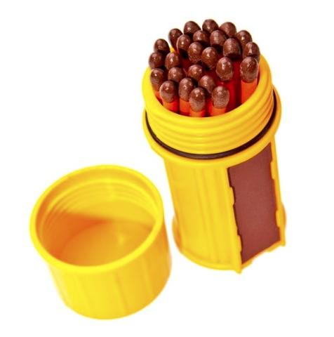 Match Container w-25 Matches - Yellow