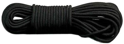 Parachute Cord- Black 50' Feet