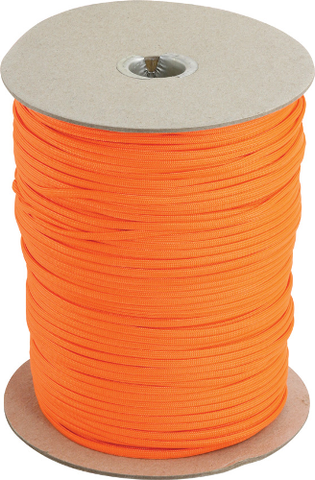 Parachute Cord 1000' Spool - Neon Orange