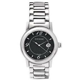 Men's Polished SS Bracelet Watch