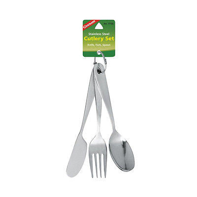 Coghlans 9166 Chow Kit Eating Utensils Cutlery Set Fork Knife Spoon Camping