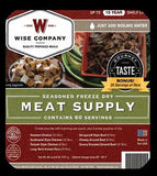 Wise Company Grab and Go MEAT Wise Food Storage 60 serving All Meat plus Rice