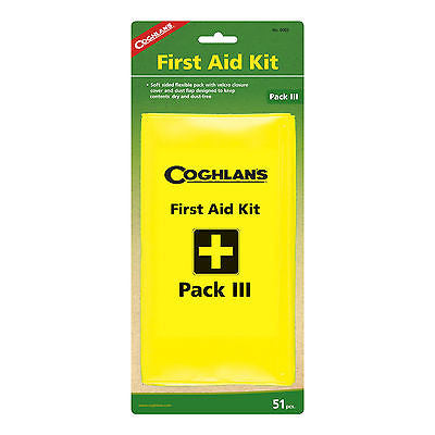 Coghlans #0003 Pack III First Aid Kit 51 Pieces for Emergencies Camping Hiking