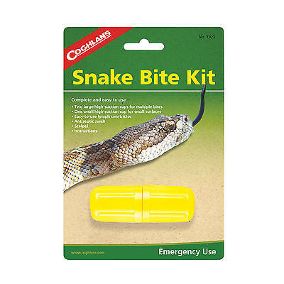 Coghlan's Snake Bite Kit Camping Survival First Aid Extractor Sting Army Venom #7925