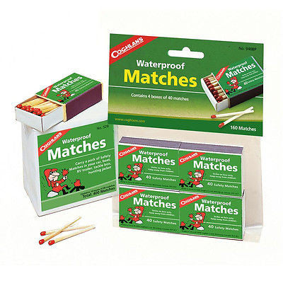 Coghlans Coghlan's Waterproof Matches Safety Campfire Cooking 10 x 40-Pack= 400