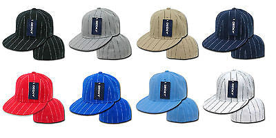 Sports Pin Striped Fitted Polo Baseball Caps Hat Decky RP3