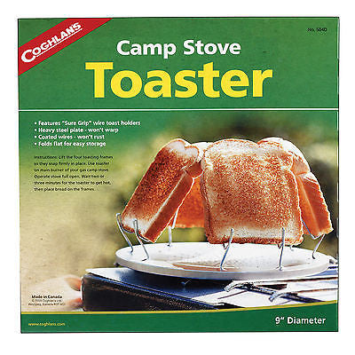 Coghlans Original Camp Stove Toaster Toasts Up To 4 Bread Slices 504D Fire Cook