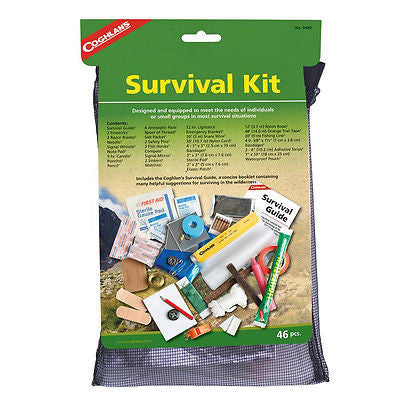 Coghlans Survival Kit w/First Aid & Shelter-Camping Car Boat Etc- Coghlan's 9480