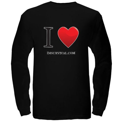 IM Survival Love Long Sleeve T-Shirt Black