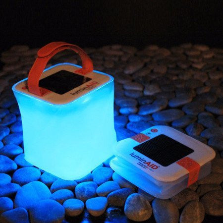 LuminAID Packlite Spectra Expanding Color Changing Solar Lantern Waterproof