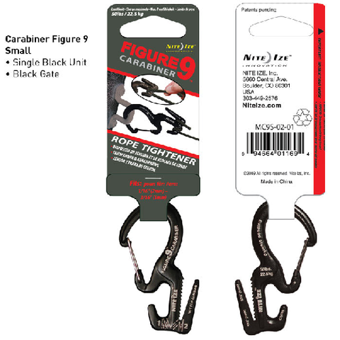 Carabiner Figure 9 Small, Black