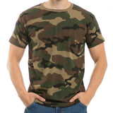 Tee Shirt Military Camouflage Cotton Short Sleeve T-Shirt Rapdom R38