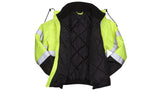 Pyramex Safety Hooded Jacket High Visibility Reflective Tape ANSI Class 3