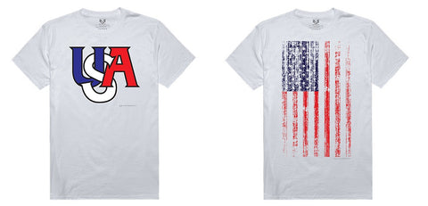 100% Cotton T-Shirts USA Flag Patriotic Tees Rapdom RS1
