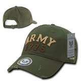 Vintage Athletic Style Hat US Military Baseball Cap Rapdom S80