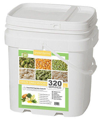 320 Serving Freeze Dried Mixed Vegetables Camping Survival Emergency Bucket