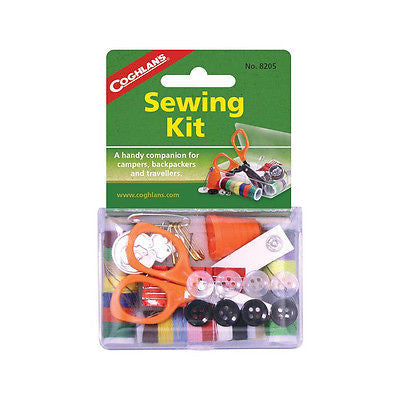 Coghlans 8205, Sewing Repair Kit Scissors Thread Buttons Hiking Scouts Camping