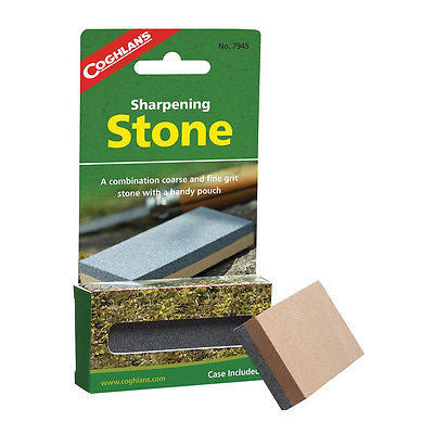 Coghlan's 7945 Sharpening Stone- Coarse and Fine Grit Knife Sharper- Free Case