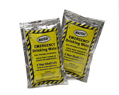 Water Pouch 4.22 oz each - 3 pack, Camping, First Aid, Emergency Disaster, Drink