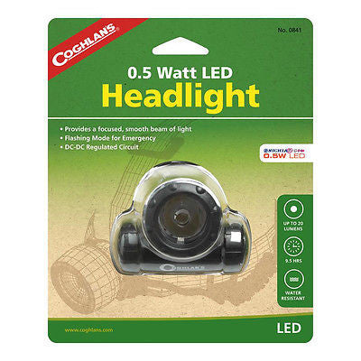 Coghlan's #0841- L.E.D. LED Headlight w/Strap- Lamp w/Emergency Flashing Mode