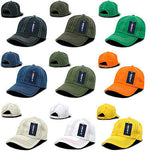Contra-Stitch Washed Polo Caps Hats Baseball Cap Decky 111