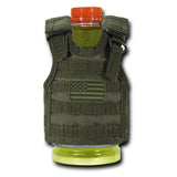 Koozie Koozy Tactical Vest Drink Soda Bottle USA Flag Rapdom T98 T99