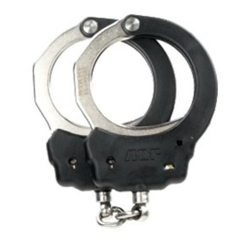 Chain Handcuffs (Steel)   Black, 1 Pawl (Yellow - Tactical)