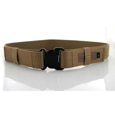 "Enhanced Military Web Belt LG (Up To 43"") Large-COYOTE TAN"