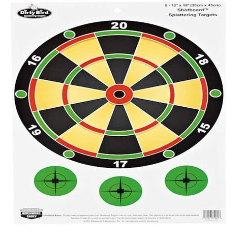 "Dirty Bird 12"" x 18"" Shotboard Target 8 pack"