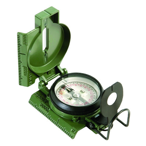 Compass, Lensatic, Tritium, Olive Drab,Clam-Shell packaging