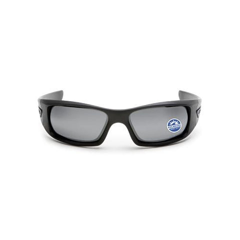 5B (Black Frame- Polarized Mirrored Gray Lenses)  Black frame