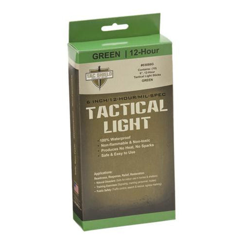 "6"" 12 Hour Light Stick, Green, 10 Pack"