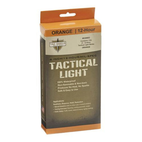 "6"" 12 Hour Light Stick, Orange, 10 Pack"